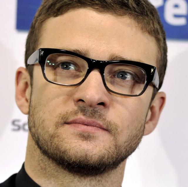 Justin Timberlake wearing eyeglasses