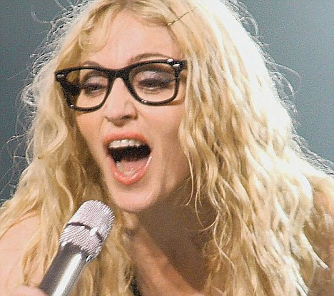 madonna wearing eyeglasses