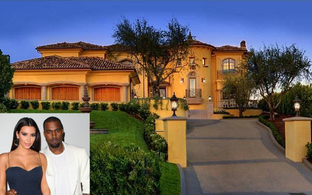 Kim Kardashian & Kanye West's House in Bel Air