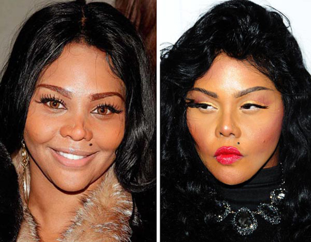 Lil Kim Nose Job Plastic Surgery Before and After