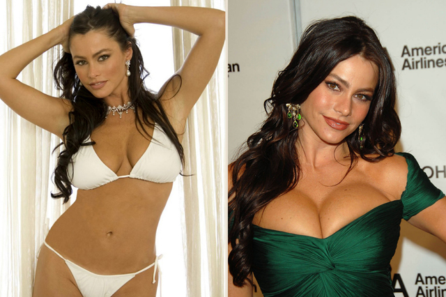Sofia Vergara Breast Implants Plastic Surgery Before and After