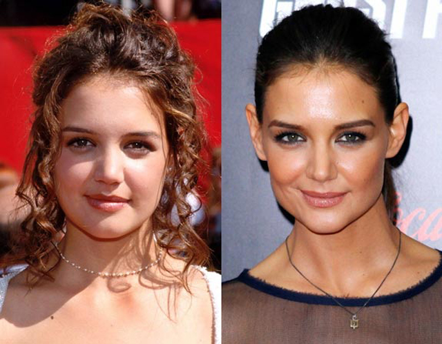 Katie Holmes Nose Job Plastic Surgery Before and After