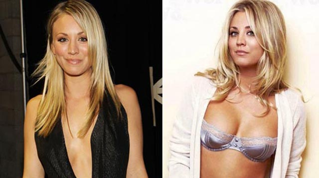 Kaley Cuoco Breast Implants Plastic Surgery Before and After