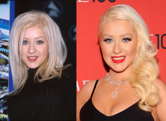 Christina Aguilera Nose Job Plastic Surgery Before and After