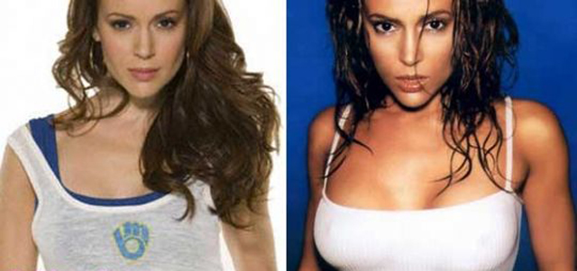 Alyssa Milano Breast Augmentation Plastic Surgery Before and After